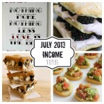 Blogging: Income – July 2013