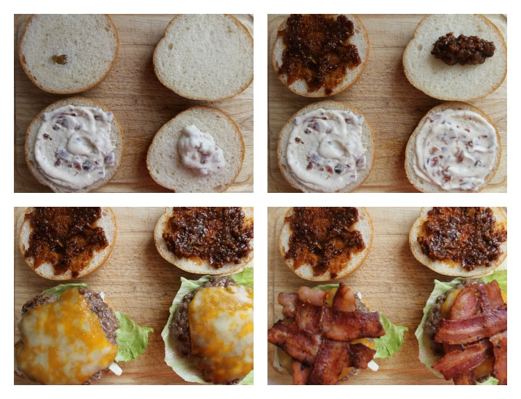 Triple Bacon Burger Collage