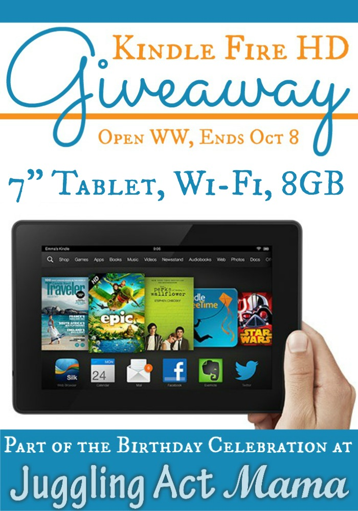 Kindle Fire HD Giveaway!  {Closed}