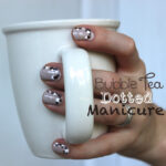 Bubble Tea Dotted Mani