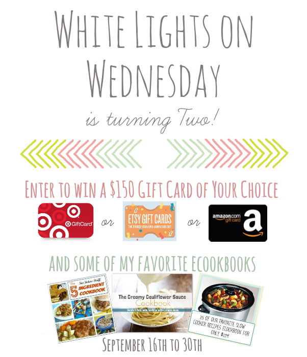 White Lights on Wednesday 2nd Blog Birthday Giveaway {Closed}