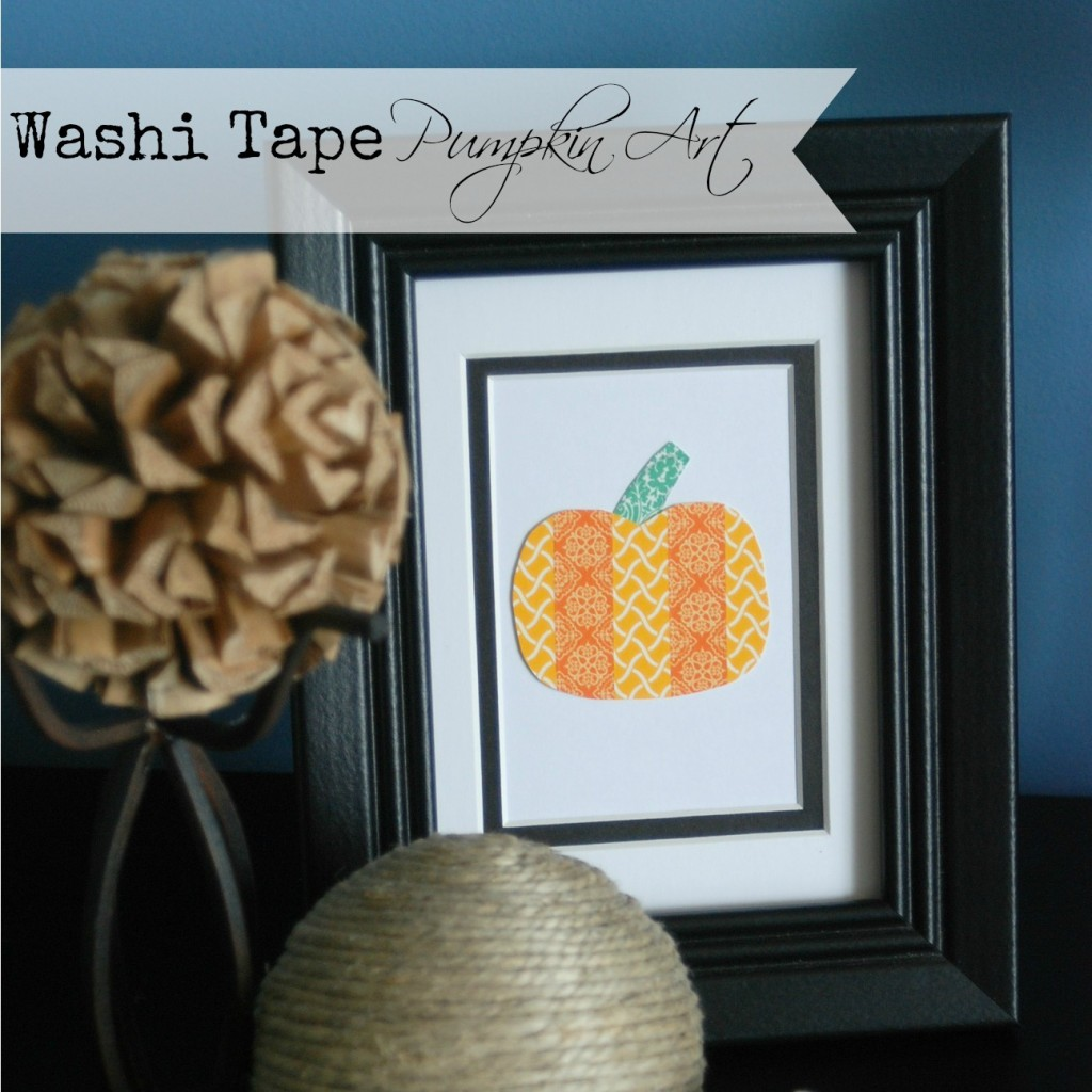 Washi Tape Pumpkin Art