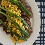 Flank Steak with Wilted Scallions and Lime-Corn Salsa