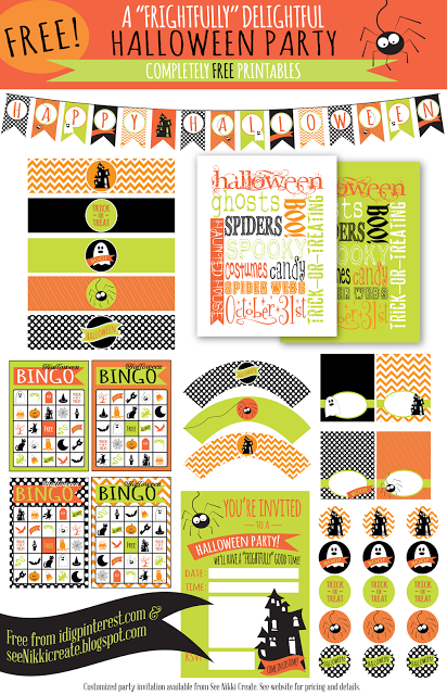 Frightfully Delightful Halloween Party Printables