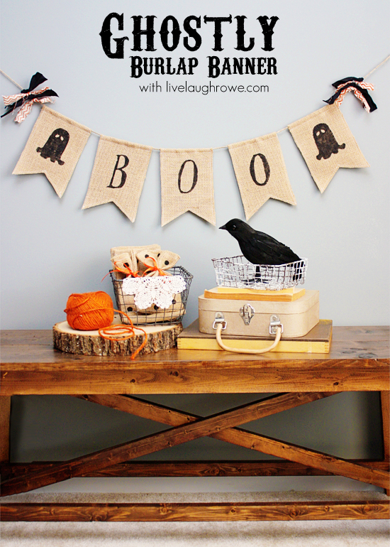 Ghostly Burlap Banner