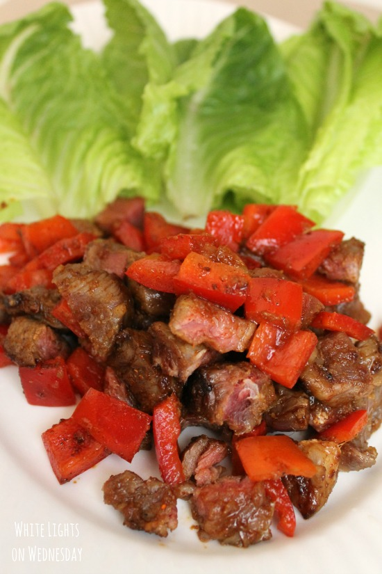 Ginger Soy Beef Lettuce Cups 2