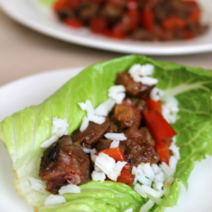 Ginger Soy Beef Lettuce Cups 3