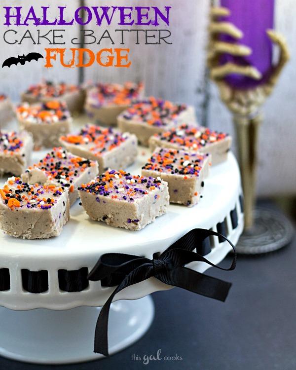 Halloween Fudge Cake Batter