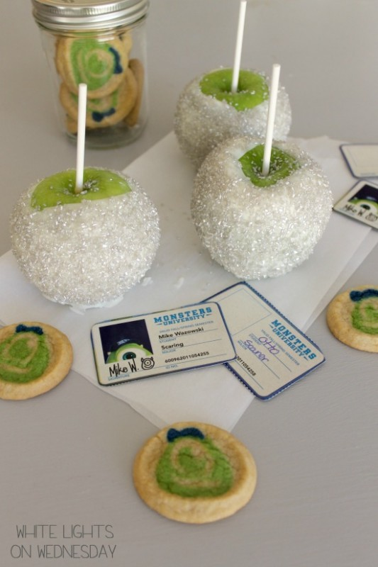 Monsters University Disco Ball Candied Apples