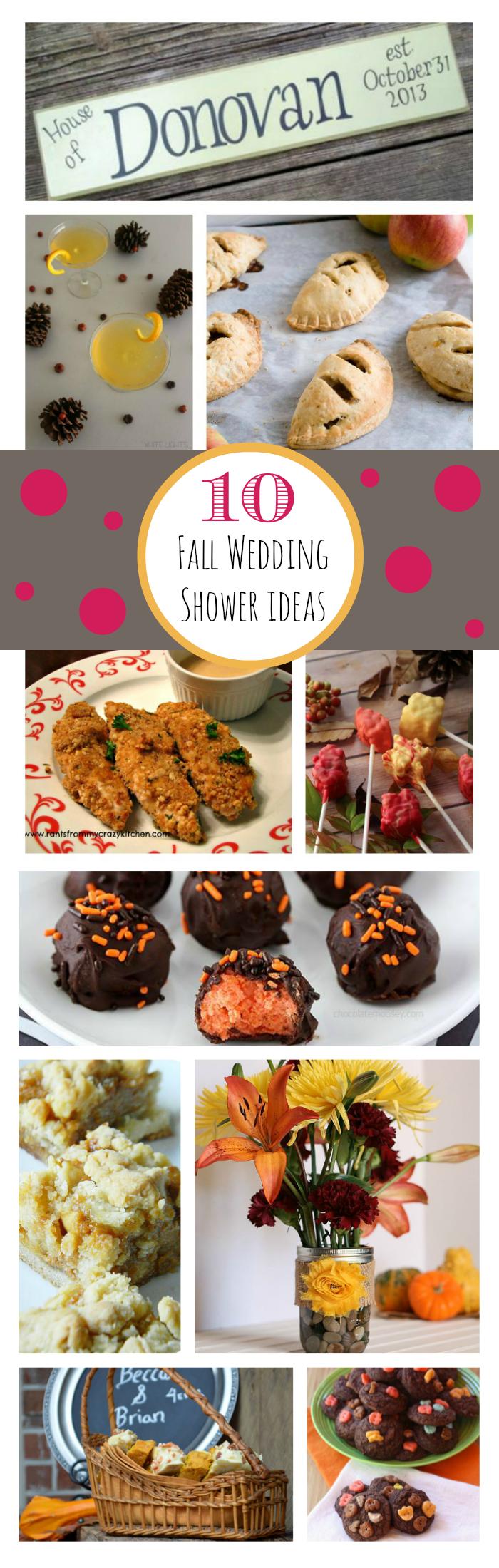 10 Fall Wedding Shower Ideas