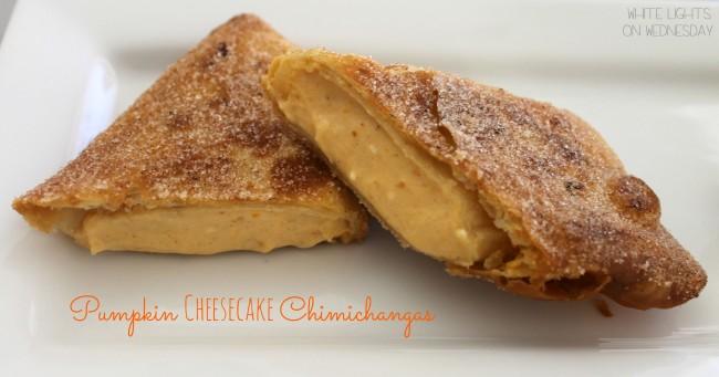 Pumpkin Cheesecake Chimichangas 8
