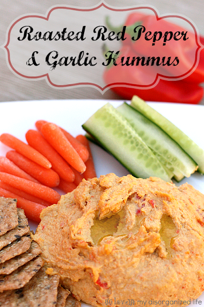 Roasted Red Pepper & Garlic Hummus