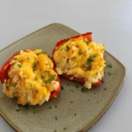 Shrimp & Garlic Rice Stuffed Peppers