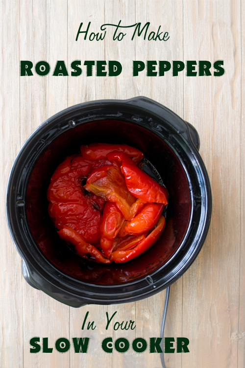 Slow Cooker Roasted Red Peppers