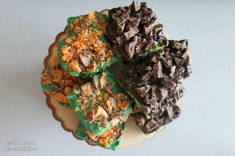 Frankenstein & Pumpkin Rice Cereal Halloween Treats