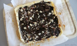 Dark Chocolate & Hazelnut Cheesecake Bars 2