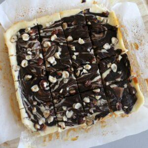 Dark Chocolate & Hazelnut Cheesecake Bars 2