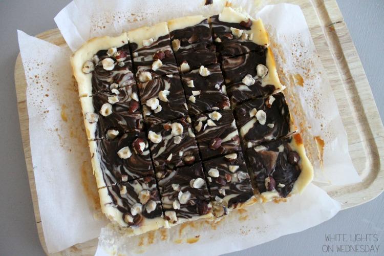 Dark Chocolate & Hazelnut Cheesecake Bars