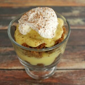 Eggnog Gingerbread Trifle Feat