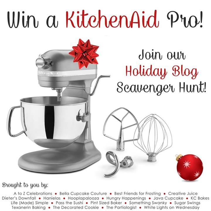 Enter to win a KitchenAid Pro stand mixer & a selection of my favorite brownie baking goods.  Giveaway ends December 15th.