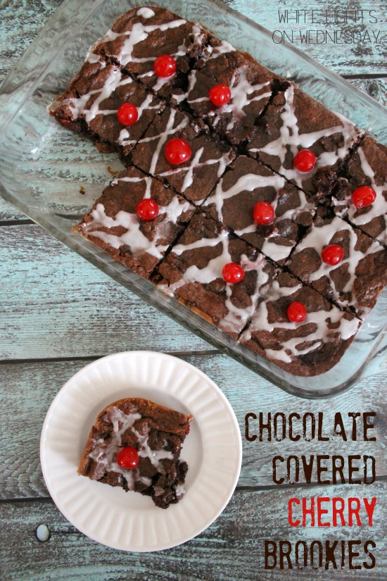 Chocolate Covered Cherry Brookies {Gluten-Free}
