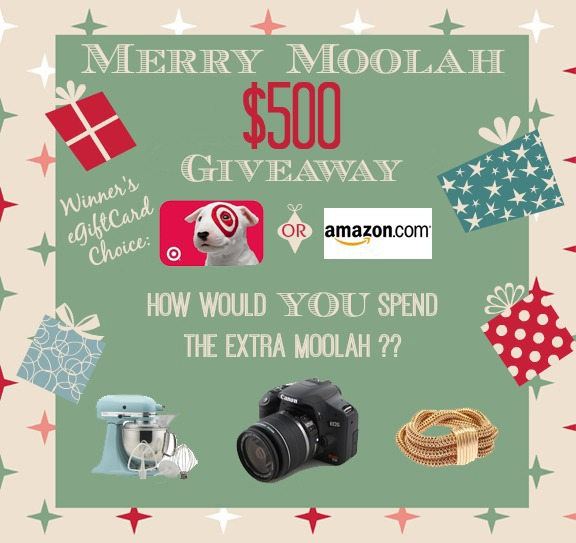 Merry Moolah $500 Giveaway  {Closed}