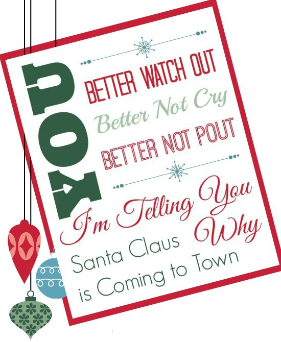 Santa Clause is Coming to Town Etsy