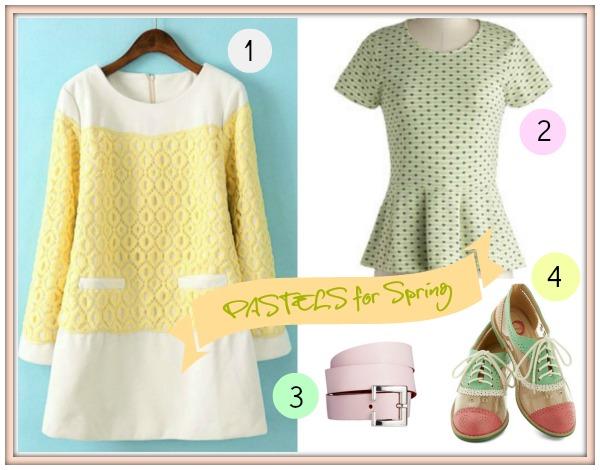 Spring Color Trend : Pastels :