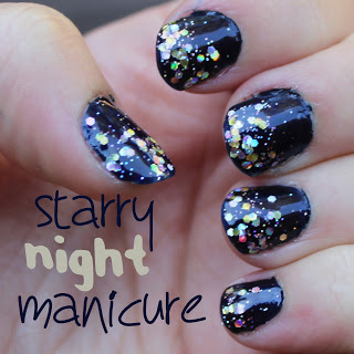 Starry Night Manicure