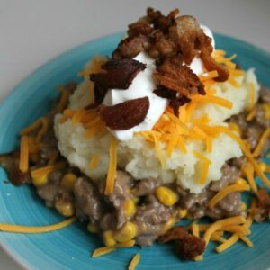 Loaded Potato Beef Casserole FEAT