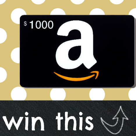 $1,000 Amazon Gift Card Giveaway!  {Closed}