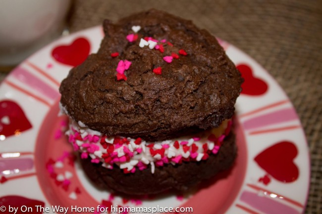 Chocolate Valentine Whoppie Pies