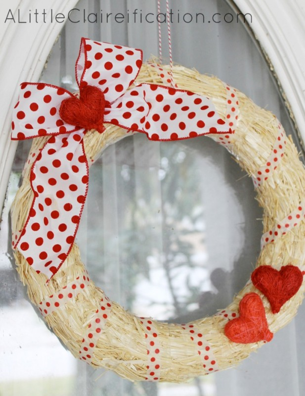 DIY Easy Valentine's Wreath
