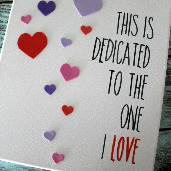Easy DIY Valentine's Day Wall Art
