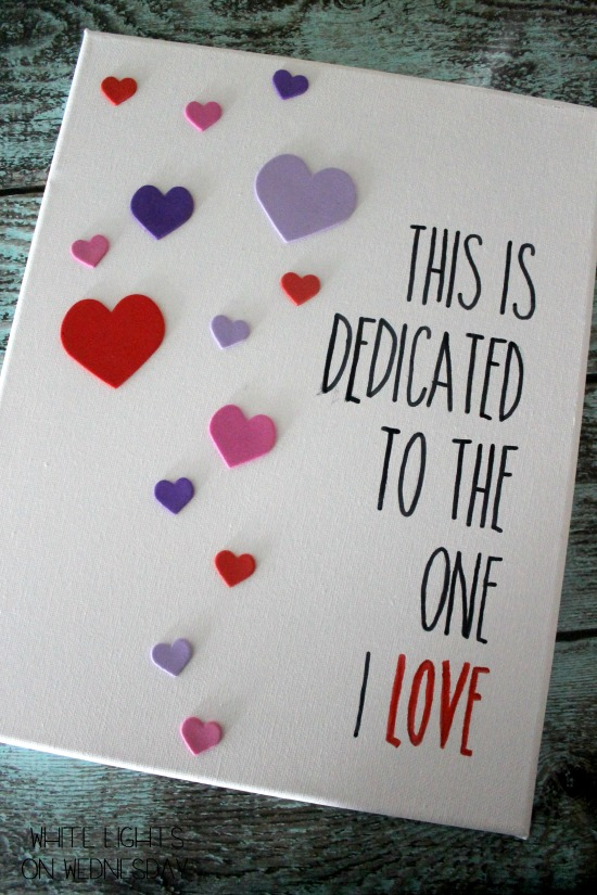 Easy Diy Valentine 39 S Day Wall Art White Lights On Wednesday