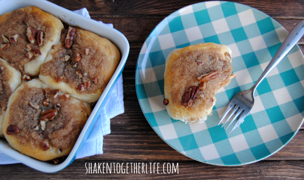 Easy Pecan Cinnamon Roll Biscuits