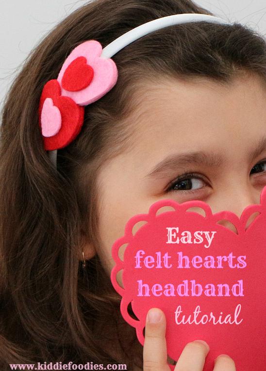Felt Hearts Headband