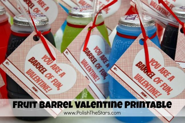 Fruit Barrel Valentine Printable
