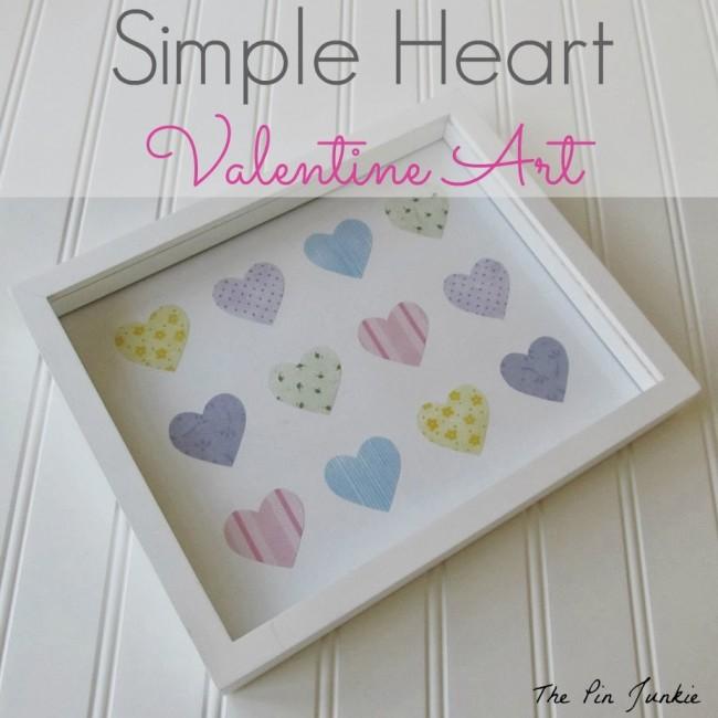 Simple Heart Valentine Art