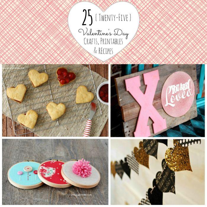25 Valentine's Day Crafts, Printables & Recipes