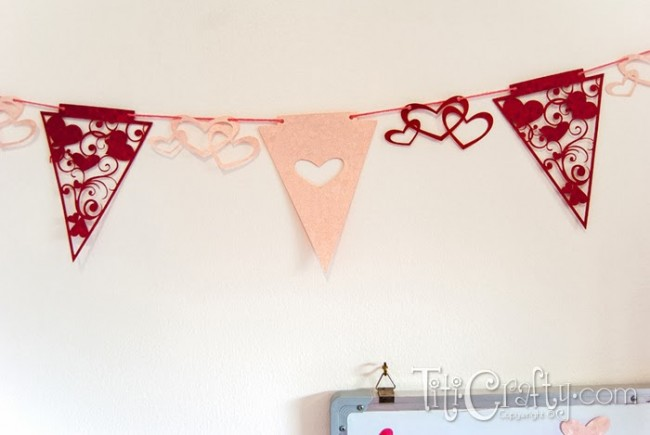 Valentine's Day Bunting with Free Cutting Files