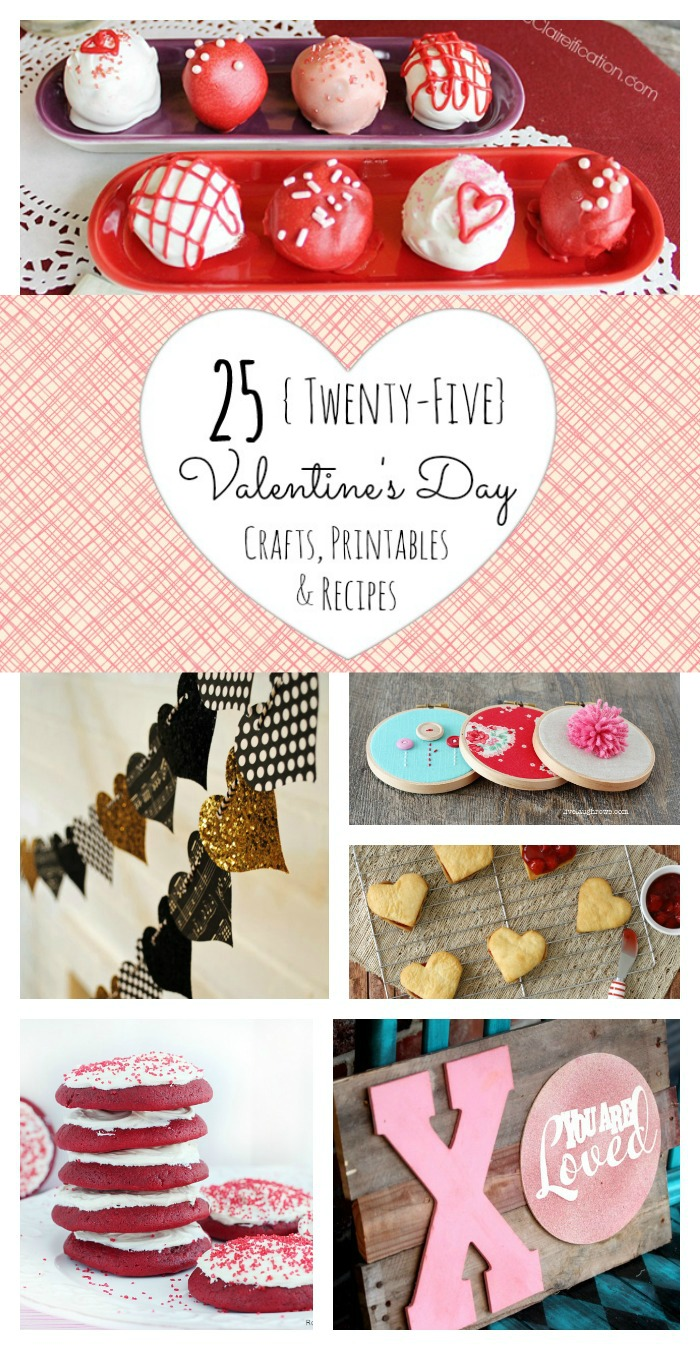 25 Valentine's Day Crafts, Printables & Recipes from www.whitelightsonwednesday.com