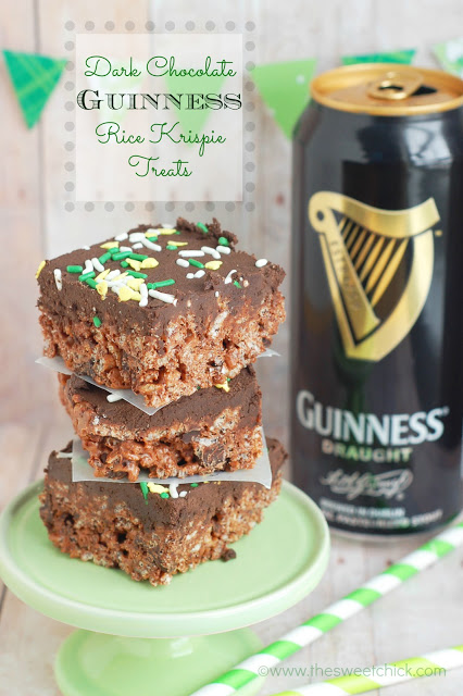 Dark Chocolate Guinness Rice Krispie Treats
