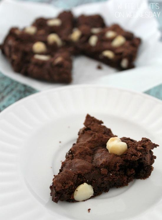 Dark Chocolate Macadamia Wedges