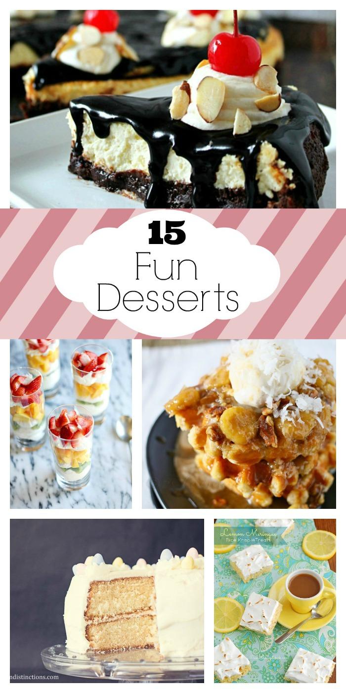 15 Fun Desserts from www.whitelightsonwednesday.com