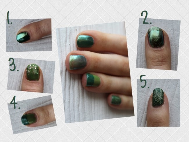 GreenNailCollage