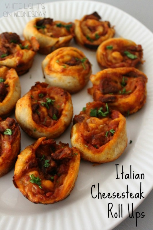 Italian Cheesesteak Roll Ups #NewTraDish