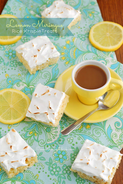 Lemon Meringue Rice Kripie Treats