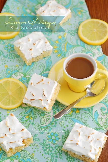 Lemon Meringue Rice Kripie Treats