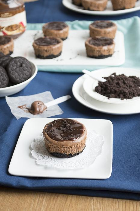 Mini Nutella Oreo Cheesecakes